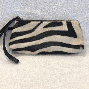 Giannotti Zebra Calf Hair & Leather Clutch